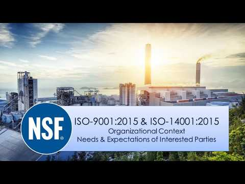 NSF-ISR ISO 9001 & 14001 Webinar: Understanding Context of Organization and Interested Parties