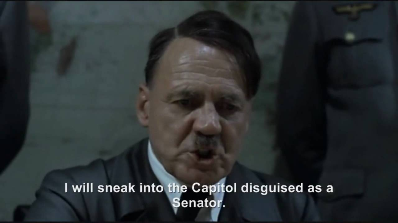 Hitler interrupts Obama's speech