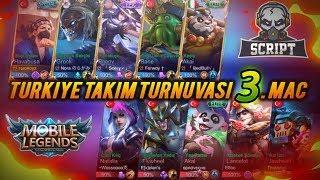 Mobile Legends-TÜRKİYE TAKIM TURNUVASI 3.MAÇ(Script Vs Söz)