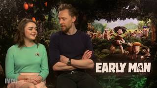 Tom Hiddleston Beatboxes For Maisie Williams In 'Early Man' Interview | IMDb EXCLUSIVE