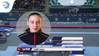 Jessica CLARKE (GBR) - 2018 Trampoline Europeans, junior final