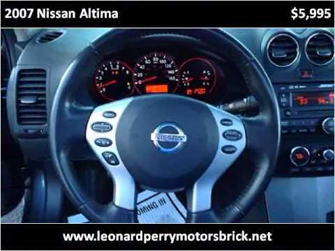 2007 Nissan Altima Used Cars Brick Nj Youtube