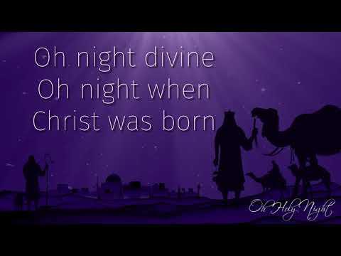 O Holy Night Instrumental with Lyrics