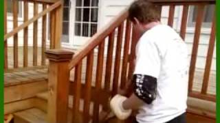 Staining A Cedar Deck Video A-affordable Decks In Lombard, Illinois