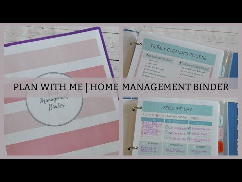 CREATING A HOME MANAGEMENT BINDER