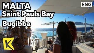 【K】Malta Travel-Saint Pauls Bay[몰타 여행-세인트폴스베이]휴양지 부지바/Bugibba/Vacation/Café