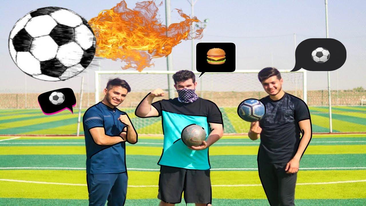 !! شاب امريكي يتحدى العرب في كرة القدم