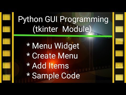 Python GUI Programming Tutorial in Hindi #9 | tkinter & Menu thumbnail