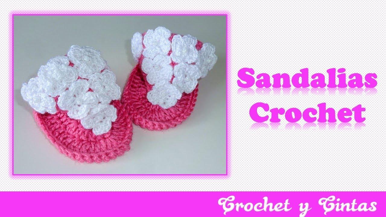 – Bebés Para De Parte Verano Crochet 2 A Sandalias dhrCQts