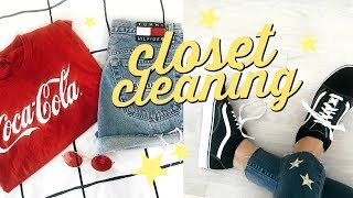 Clean Out My Closet with Me! + Clothes DIYS ✰