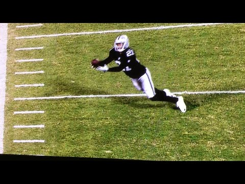 Sean Smith gets a diving interception on the 20 yard line!