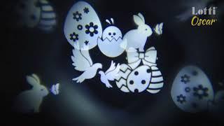 Vidéo: Projecteur de fête 12 images animées blanc froid 24V extérieur et intérieur