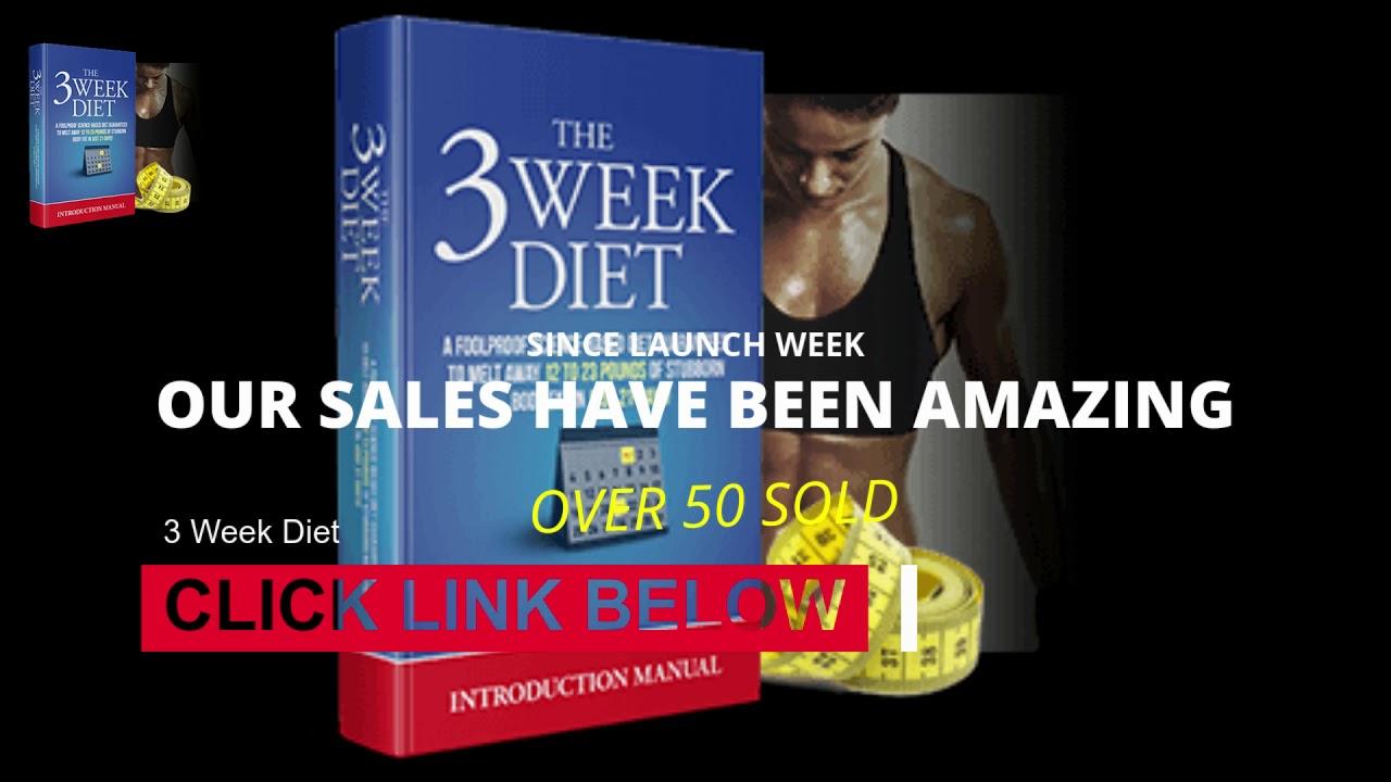 The three week diet results