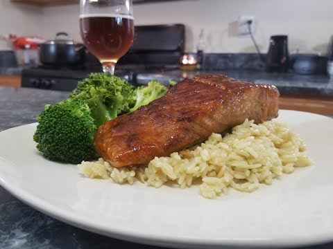 Cook With Me| Bourbon Brown Sugar Glazed Salmon