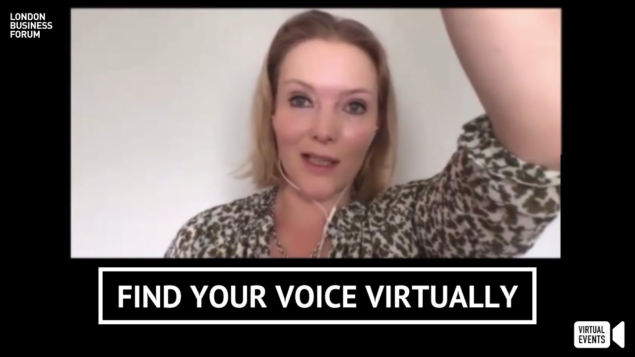 Caroline Goyder reveals how to find your voice virtually