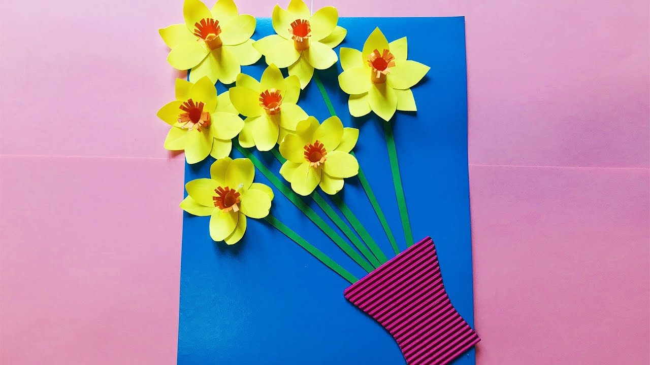 Марта, открытки из цветы из бумаги к 8 марта