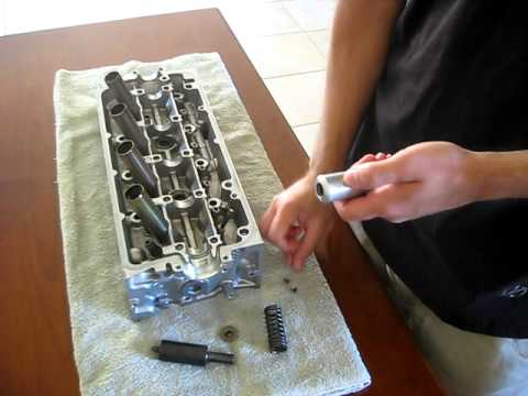 Valve spring compressor remover tool demonstration