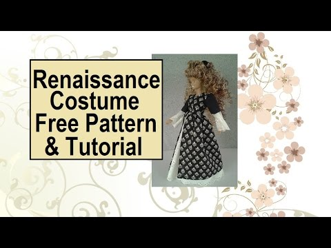 Free Renaissance Costume Sewing Patterns: Basic Dress - YouTube