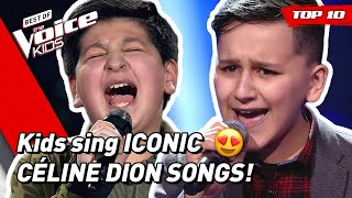 TOP 10 | BEAUTIFUL CÉLINE DION songs covered in The Voice Kids! 🤩