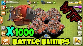 1000 Battle Blimps Attack In Clash of Clans || Siege Machines Unlimited # 3