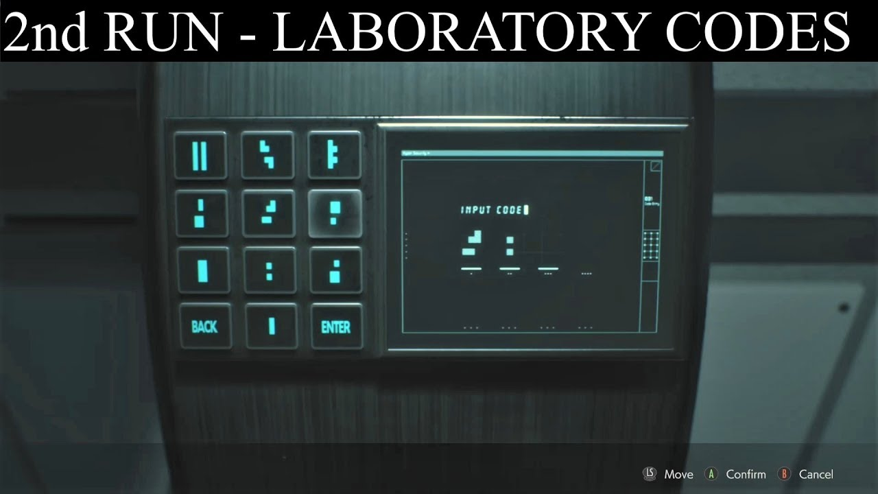 Resident Evil 2 Remake: Second Run Laboratory Codes (Green House)