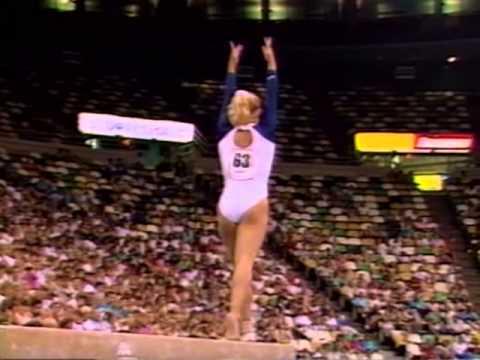 Brandy Johnson  Balance Beam - 1989 U.S. Gymnastics Championships - Event Finals