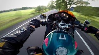 Honda CBR 900 RR Wheelie Turbo Ride !! GoPro