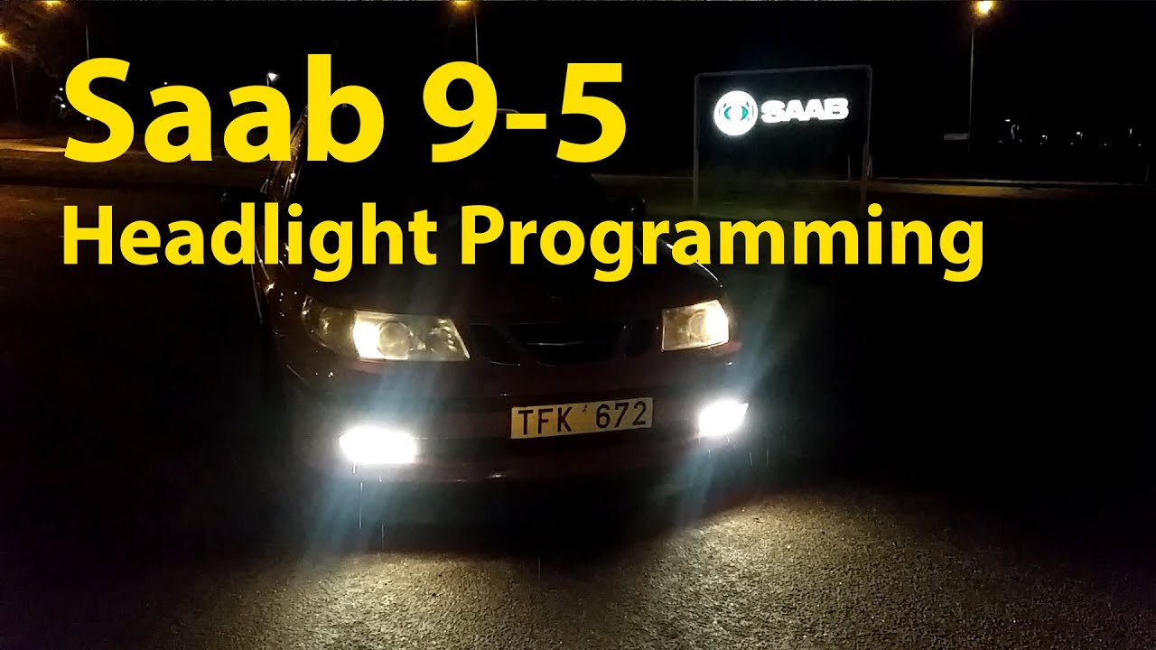 2002 saab 9 3 headlight wiring diagram saab 9 5 headlight and foglight modification trionic seven youtube  saab 9 5 headlight and foglight