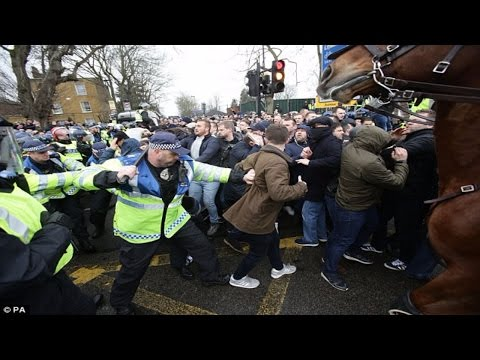 Thumbnail: Millwal Police launch investigation after video emerges of Millwall fan punching Tottenham supporter