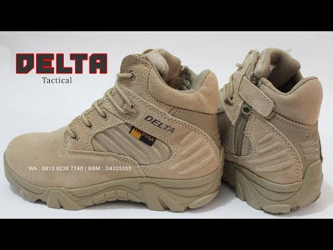 Sepatu DELTA made in USA, 6 inchi tactical boots