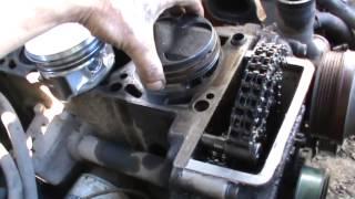 Как заменить поршневую в 406 ЗМЗ двигателе не снимая с машины часть 2