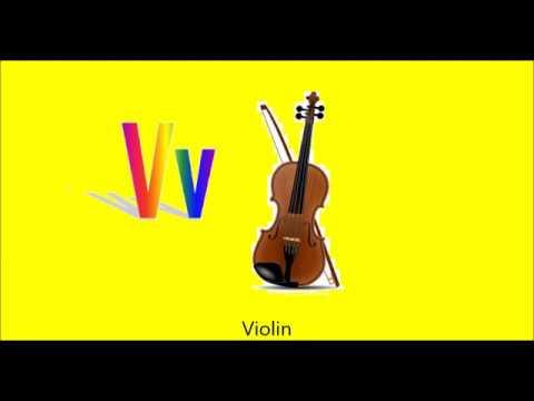 Musical Instrument Alphabet ABCs phonics Learn Musical Instrument Sounds