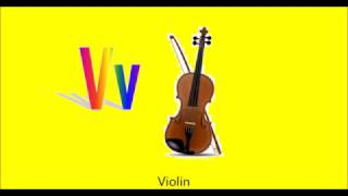 Musical Instrument Alphabet ABCs phonics Learn Musical Instrument Sounds