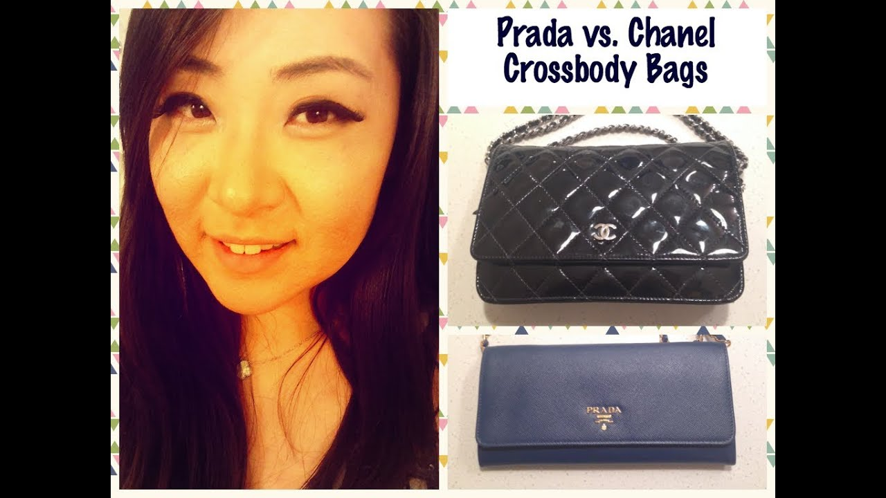Purse Review: Prada vs. Chanel Wallet on a Chain Crossbody Bag ...