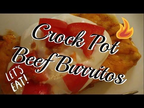 Crock Pot Beef Burritos