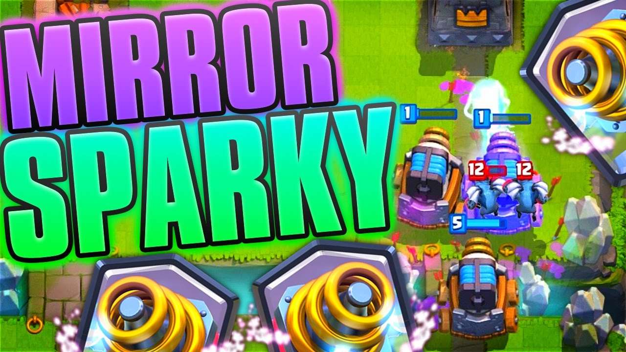clash royale mirrored sparky massacare