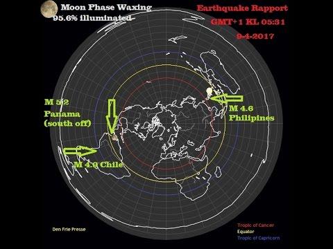 Flat Earth Earthquake Rapport 9 4 2017 Chile Panama Philipines