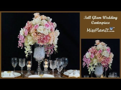 DIY Tall Glam Wedding Centerpiece| DIY Glamorous Wedding| DIY Tutorial