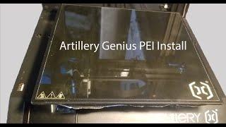 Artillery 3D Genius PEI Install