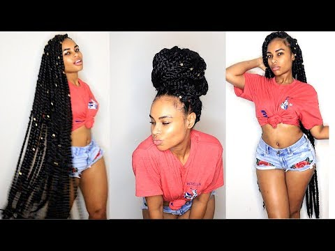 How to: No Cornrows Knee Length Crochet Braid Senegalese Twists