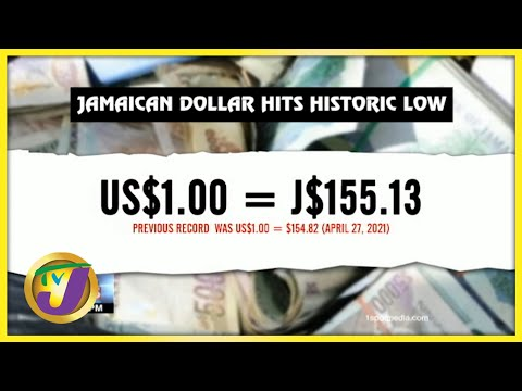 Jamaican Dollar Hits Record Low to US$ | TVJ Business Day - July 14 2021