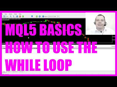 MQL5 TUTORIAL BASICS - 8 HOW TO USE THE WHILE LOOP - MQL5 Tutorial