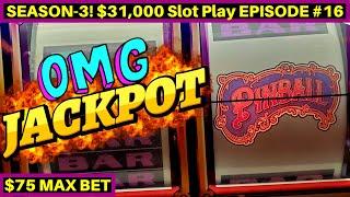 $75 Max Bet HIGH LIMIT Pinball Slot HANDPAY JACKPOT | Season 3 | EPISODE #16