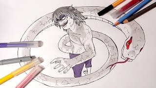 Dragon Snake Sage Mode Kabuto Yakushi Speed Drawing (Naruto Shippuden)