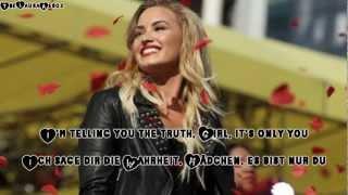Demi Lovato-You're my only shorty (Lyrics+deutsche Übersetzung)