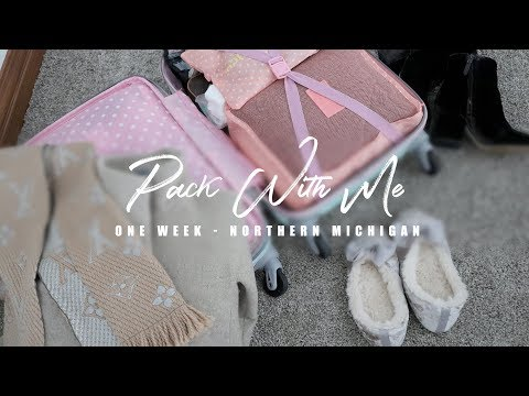 Pack With Me - One Week in Northern Michigan (Winter Outfits)