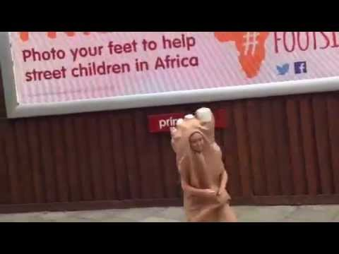 Street Children: Barefoot Charity Fundraising by Street Child Africa by London Billboard