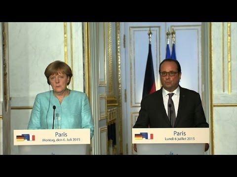 Hollande and Merkel united on Greece