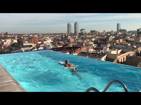 Swimming at Grand Hotel Central Barcelona