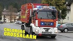 [CHLORGASAUSTRITT] - Großalarm in Oberammergau - 10 Minuten Einsatzfahrten der Feuerwehr [Großübung]